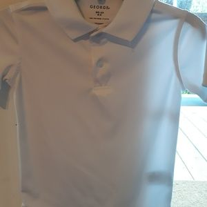 Boys white polo shirt by George